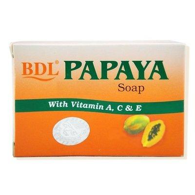 印尼 BDL PAPAYA 頂級木瓜亮白洗面皂 135g 香皂 另有medimix 美肌皂【V366164】 PQ 美妝