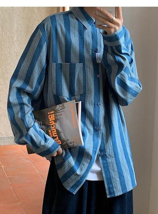 FINDSENSE X  男士日系牛仔長袖襯衫工裝休閑外套潮流帥氣百搭襯衣男