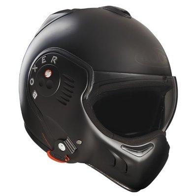 台中皇欣!!正法國 ROOF 出品全罩安全帽 BOXER V8 FULL BLACK 下巴可掀變3/4!!免運費!!