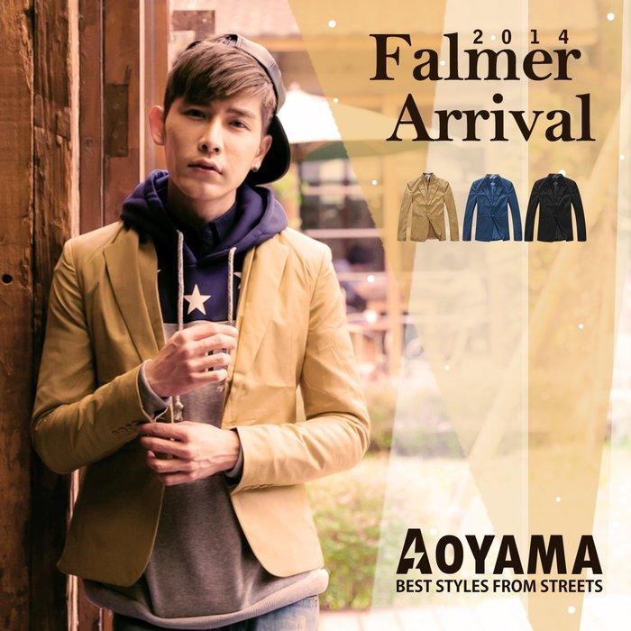 西裝外套 韓系潮流 雙領設計單扣休閒西裝外套 【DJ005】青山AOYAMA