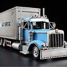 淺藍色變形金剛收納卡車鐵皮模型擺件酒吧咖啡廳裝飾品擺設*Vesta 維斯塔*
