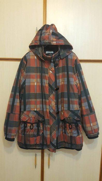 ☆╮Betty House╭☆正韓品格紋內毛絨保暖大衣外套購自韓國NO:381