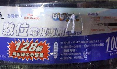 瘋 全新 零售 一米五元 監視系統 大通 同軸電纜線 5C 128 編