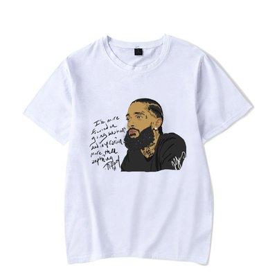 【買一送一】2021 nipsey hussle歐美Rap個性潮流男女款短袖T恤紀念衫