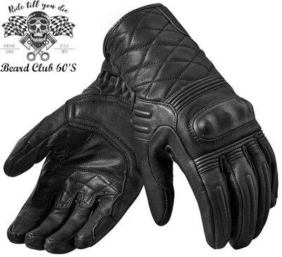 ♛大鬍子俱樂部♛ REVIT ® Monster 2 荷蘭 原裝 復古 騎士 哈雷 重機 透氣 山羊皮 短手套 黑色