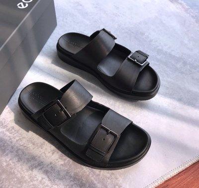 ECCO 2020 新款男涼鞋 簡約懶人拖鞋沙灘鞋 柔暢奢華 273824 黑色 39-44碼