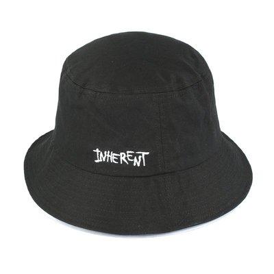 【二鹿帽飾】(INHERENT) 夏季登山客專用帽 / 精品潮流漁夫帽/ 男女款式-黑色