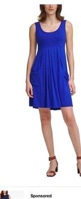 Calvin Klein Petite Scoop-Neck Pintucked Knit Dress5/23止