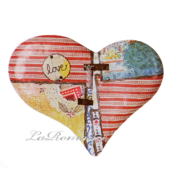 【Heart & Home】Kelly Rae Roberts 心戀家居系列 Love 鐵皮心形壁飾 / 掛飾