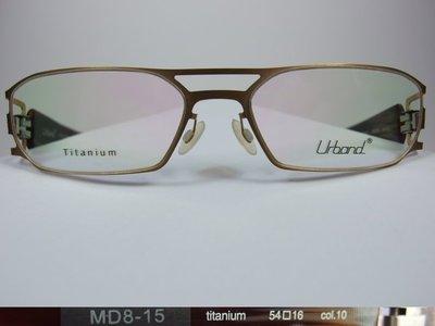 【信義計劃】全新真品 Urband 手工眼鏡 鏤空鈦金屬 彈簧膠腳 雙槓雷朋款 超越 Infinity Lindberg