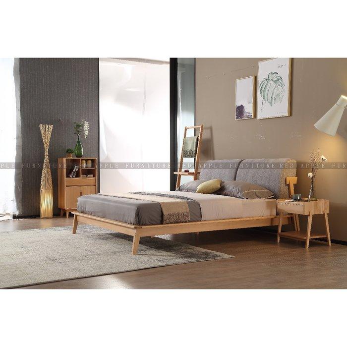 [紅蘋果傢俱]MSY-1802-3 床 床頭櫃 梳妝桌椅 實木 簡約 現代 北歐風