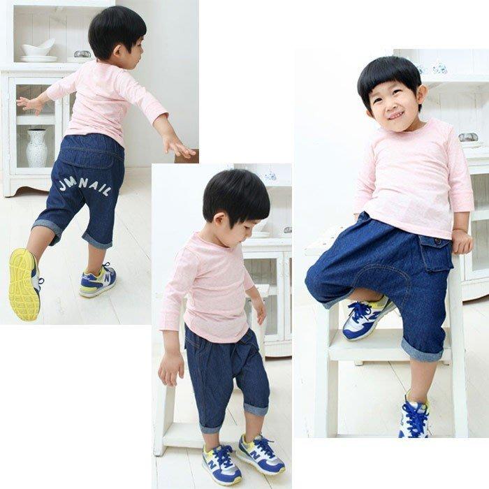 韓版《簡約口袋款》仿牛仔七分褲 哈倫褲(K5-3)