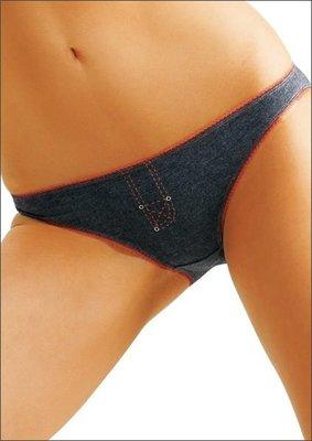°☆就要襪☆°全新歐洲品牌 KEY LPR 266 仿牛仔單寧低腰棉柔內褲、2件入