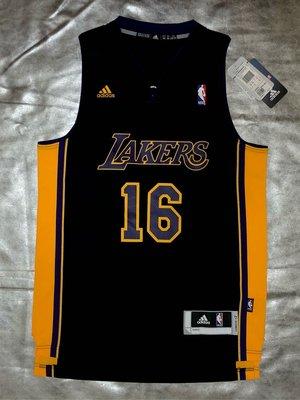 賣個JORDAN NBA 湖人隊 好萊塢之夜 Pau Gasol ADIDAS R30電繡 XS