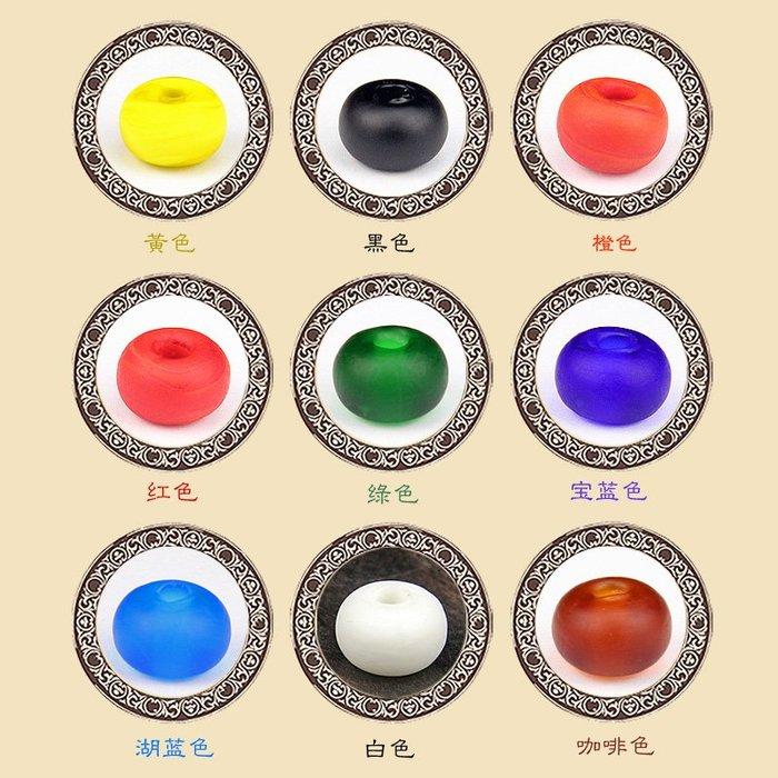 新品上市#磨砂琉璃桶珠琉璃散珠隔珠DIY佛珠手串項鏈藏式星月菩提配件