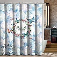 【灰熊好物】客製化訂製浴簾 任意尺寸規格圖案 IKEA宜家風格 防潑水防霉淋浴簾子 SPA更衣室布簾門簾 花朵蝴蝶
