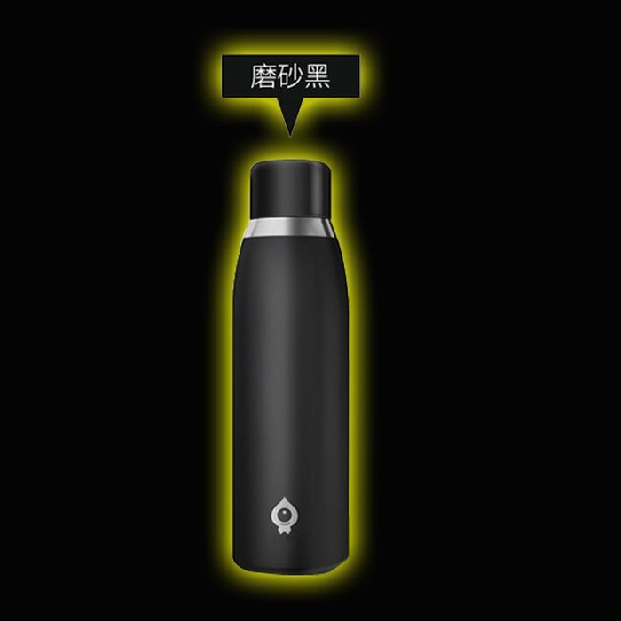 5Cgo【智能】智能科技創意男女便攜隨手智能水杯304不銹鋼杯子提醒喝水母親節父親節教師節生日禮物 500mll共4色