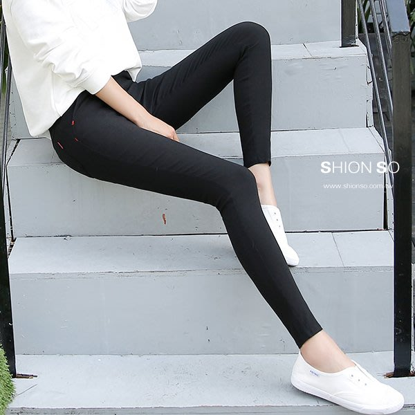 享瘦衣身中大尺碼【B2018】塑型顯瘦百搭款鉛筆褲
