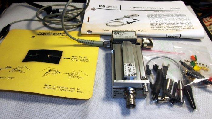 【近全新】HP 54003A Input + HP 10435A Test Probe 10:1