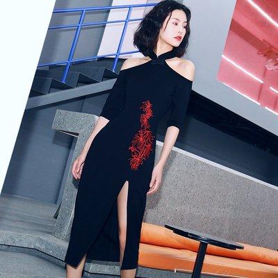 夏季旗袍改良版連身裙改良版年輕款旗袍連...