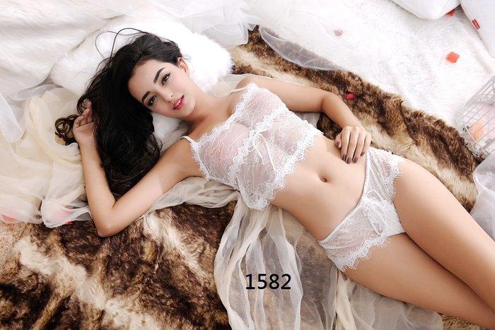 白色情人節 情人激情夜 情趣睡衣 白色蕾絲套裝比基尼性感睡衣 制服誘惑 角色扮演 新婚禮品~時尚花園館~