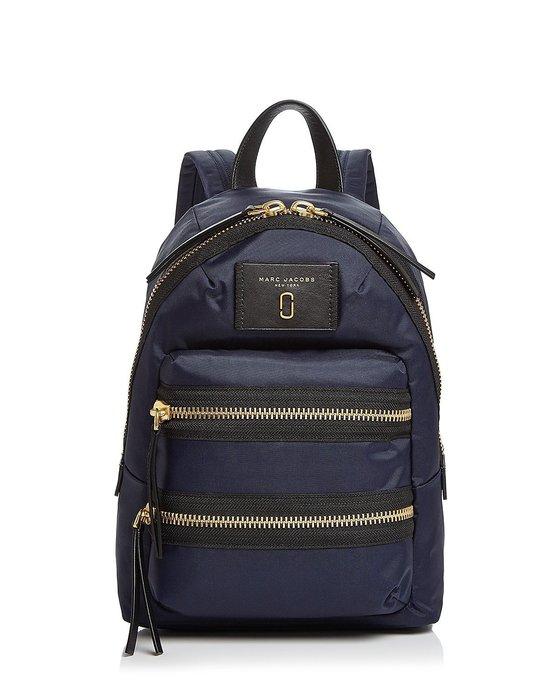 Coco 小舖 MARC JACOBS Nylon Biker Mini Backpack 深藍色迷你尼龍後背包