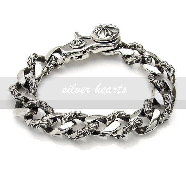 【SILVER HEARTS】GorosChrome Hearts克羅心Fancy Link Bracelet純銀手鍊
