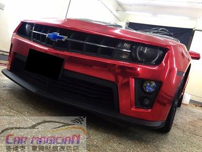 Camaro Mustang SRT8 GT  電鍍紅/法國HEXIS高亮黑 全車包膜配色