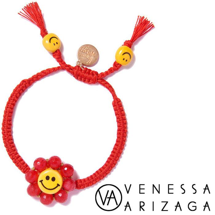 Venessa Arizaga HAPPY FLOWER BRACELET (RED) 笑臉手鍊