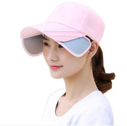 帽子女夏百搭棒球帽女遮陽帽女鴨舌帽女防曬防紫外線太陽帽 萬客居