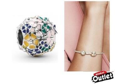 【全球購.COM】PANDORA 潘朵拉 琺瑯新款鮮花花束串珠 925純銀 美國正品代購