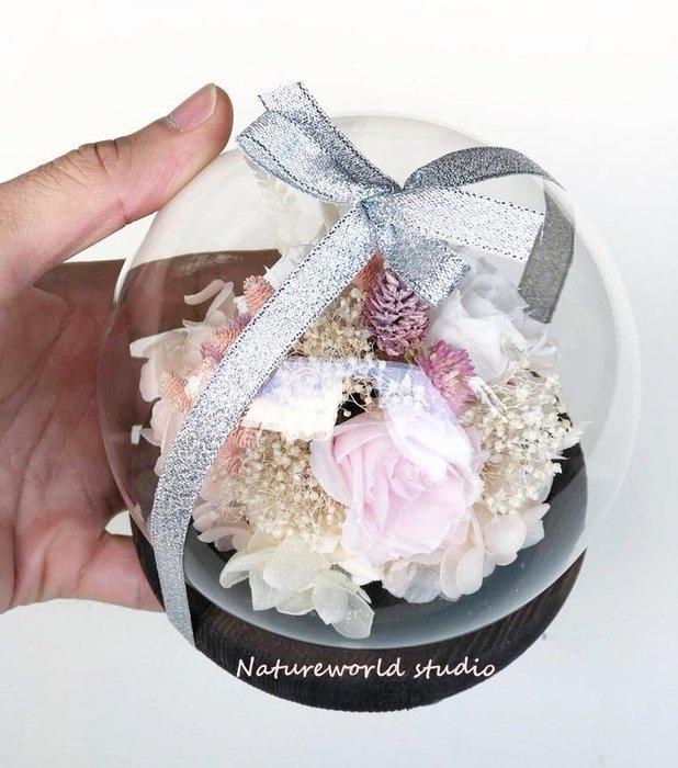 水晶玻璃球(大)-恆采花-顏色可客製[原生態工作室]