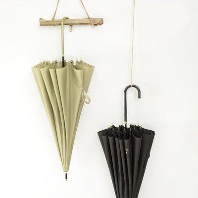 【蘑菇小隊】直立傘雨傘長柄傘英倫風簡約純色-MG34497