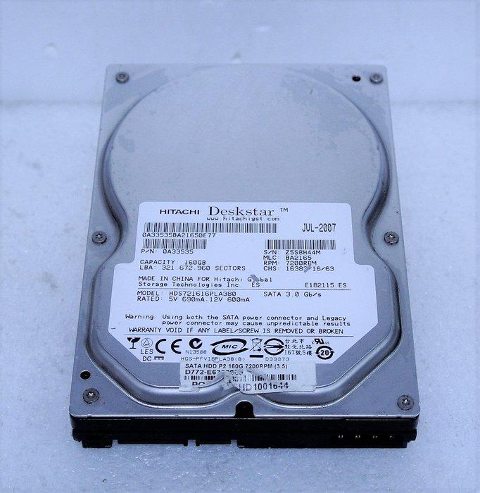 ~ 駿朋電腦 ~ 3.5吋 HITACHI 日立 160G SATA介面 桌上型硬碟 測試正常 $150