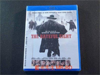 [藍光先生BD] 八惡人 The Hateful Eight BD + DVD 雙碟限定版 (威望公司貨) - 8惡人