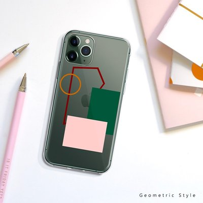 檸檬手機配件~~NUTCASE韓系簡約幾何iPhonexs11promax全包蘋果12透明手機殼ins風