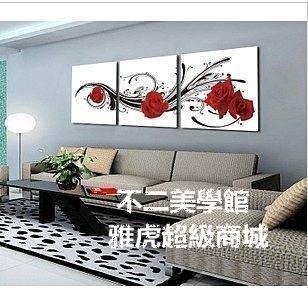 【格倫雅】^現代風格化 田園畫 無框聯畫 裝飾畫掛畫 浪漫《玫瑰有約》55454[g-l-y