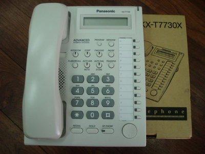 國際牌Panasonic TES-824(實裝容量3外線8分機)顯示型總機+4台KX-T7730螢幕話機=自行安裝價
