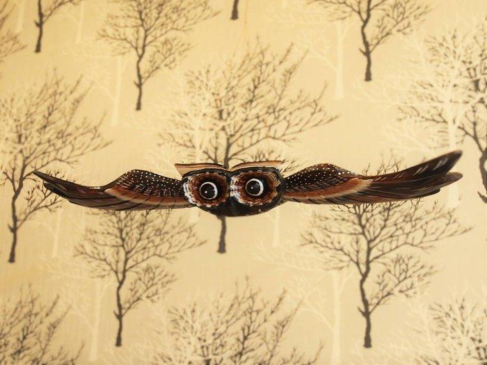 峇厘島貓頭鷹飛翔木雕(中),附有吊繩🌟最特別的禮物都在奧爾思🌟