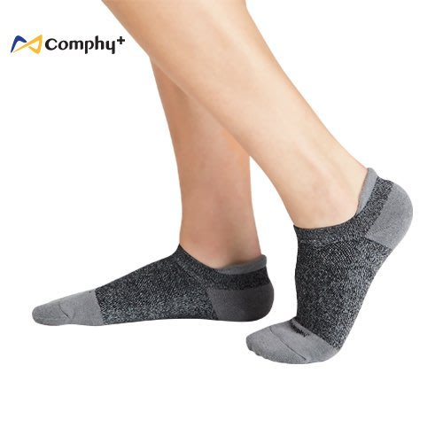 【線上體育】COMPHY+ 阿瘦集團 勁能踝上襪-灰色 M