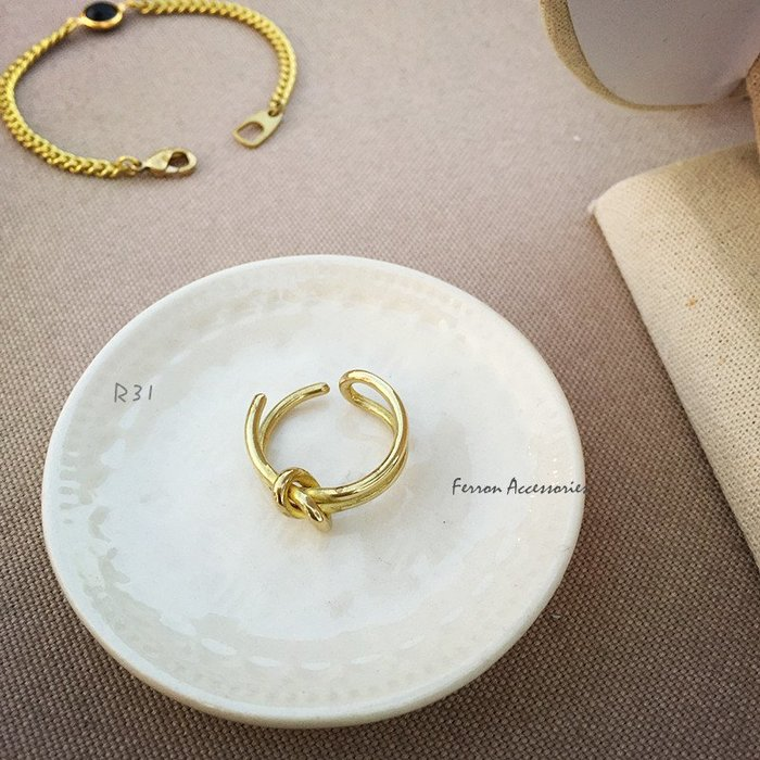 Ferron Accessories 琺隆  R31  繩結黃銅戒指  訂製  復古  黃銅 VINTAGE