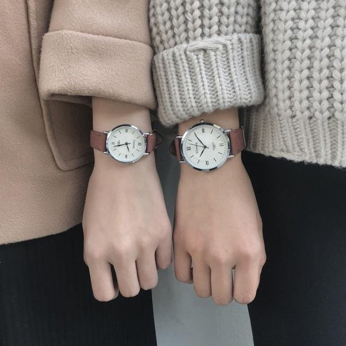 YEAHSHOP 手錶 韓版潮流時尚男女錶簡約學院風學生復Y185