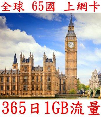 【杰元生活館】全球 65國 365日1GB流量 亞洲上網卡 空服員 船員最佳上網卡