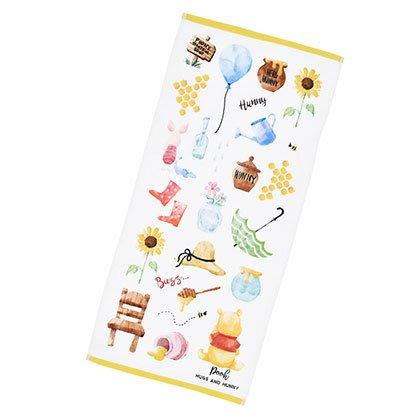 *B'' Little World * [現貨] 東京迪士尼專賣店限定/小熊維尼色鉛筆風毛巾/POOH/東京連線