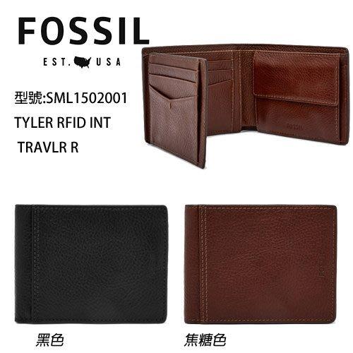 新款FOSSIL高質感荔枝紋真皮壓印牛皮皮夾(零錢袋/鈔票層/多卡層/照片層(黑/咖啡兩款)↗小夫妻精品嚴選↖