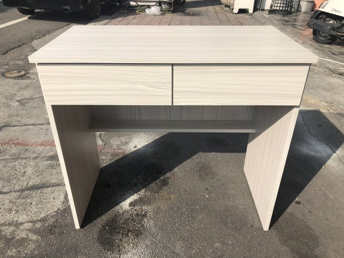 非凡二手家具 全新 白雪杉2.7尺雙抽書桌*辦公桌*電腦桌*工作桌*置物桌*會課桌*洽談桌*木桌*寫字桌*讀書桌