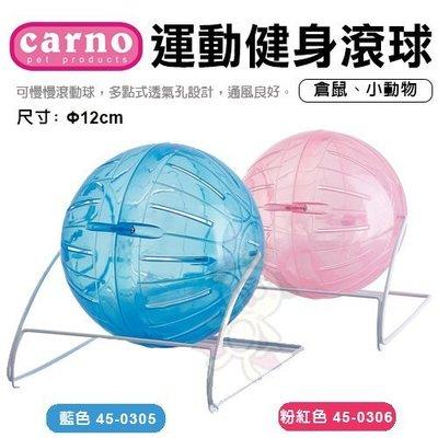 =白喵小舖=CARNO《運動健身滾球-藍色|粉紅色》小動物適用