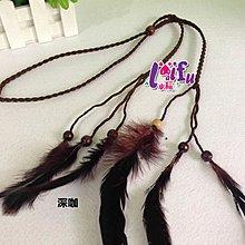 .°。.☆小婷來福*.。°H532髮飾波西米亞印地安公主民族風手工製作羽毛串珠造型編織流蘇髮帶髮箍髮圈,售價130元