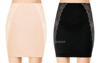 美國品牌SPANX~蕾絲花邊中腰塑身裙/束身裙/襯裙 #1686 ASSETS系列 膚色/黑色