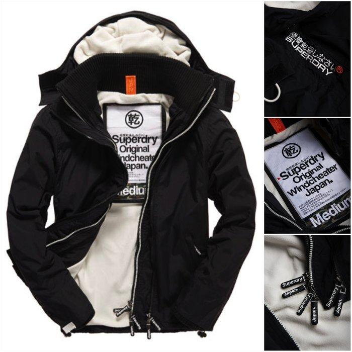 極度乾燥 Superdry Arctic Windcheater jacket 風衣 刷毛 外套 防風保暖 黑白 現貨
